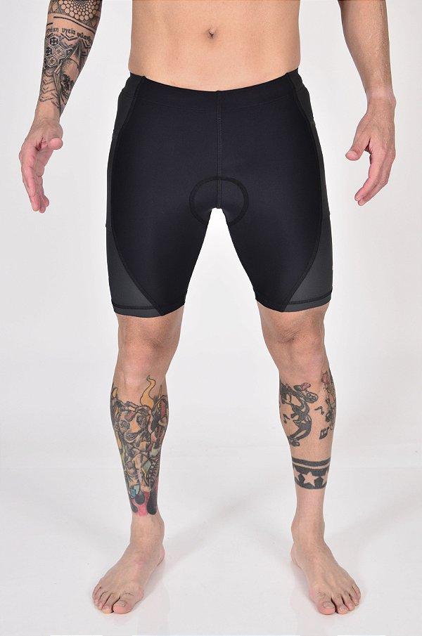 Bermuda De Compressão Gumm Multisport Run Black/Grey Masculina