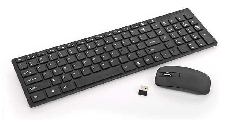Teclado e mouse sem fio K-06 2.4G Ultra-Thin Fashion