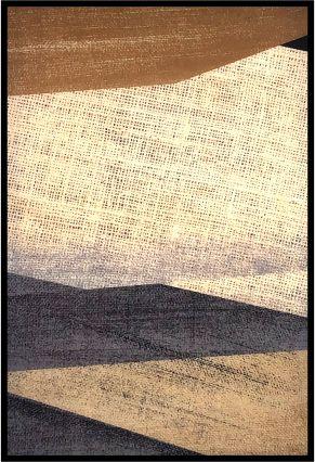Abstrato Bege e Preto I