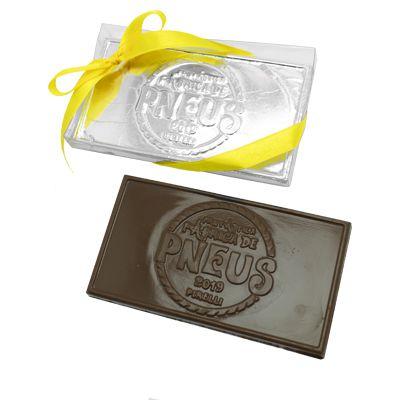 Tablete Personalizado em Relevo + Caixa Transparente - 12,0 x 6,0 x 0,5 cm