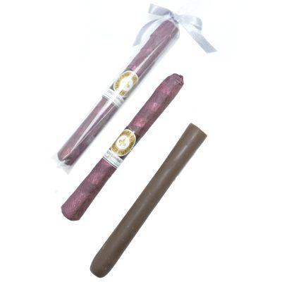Charutos de Chocolate com Cinta Personalizada + Saquinho e Laço