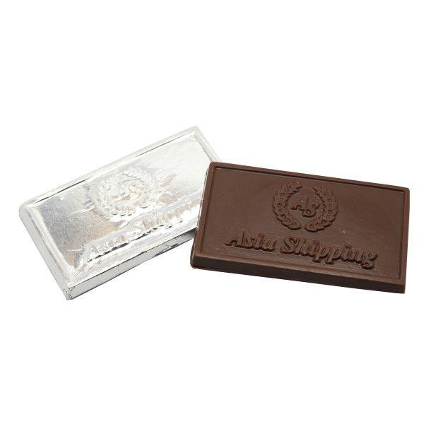 Tablete de Chocolate Personalizado em Relevo - 8,0 x 4,5 x 0,5 cm