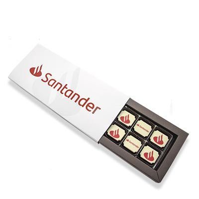 Caixa Luxo 12 Bombons Personalizados 04 Cores + Cinta Personalizada