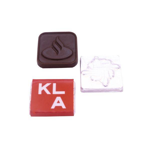 Tablete Chocolate Relevo + Invólucro Personalizado - 3,5 X 3,5 cm
