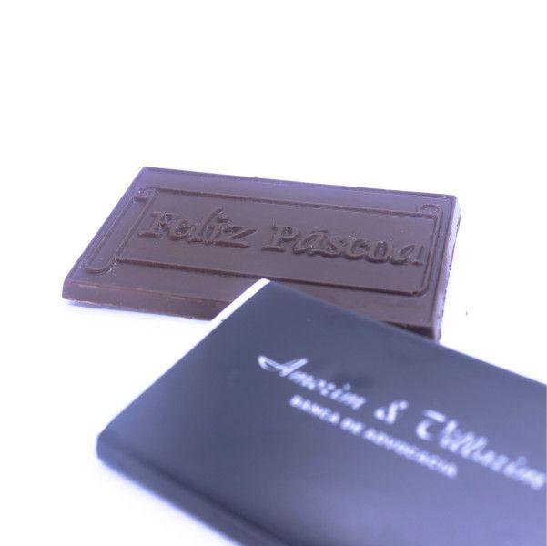 Tablete Chocolate Relevo + Invólucro Personalizado - 8,0 x 4,5 x 0,5 cm