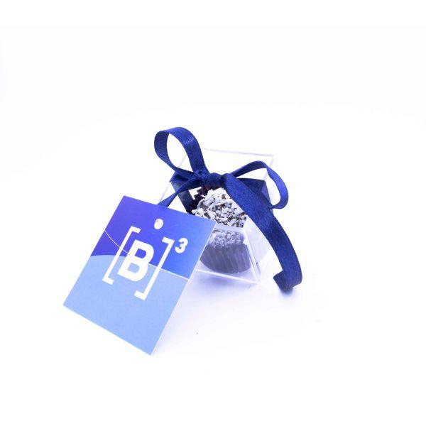 Caixa com 1 Bombom Tradicional + Tag Personalizada