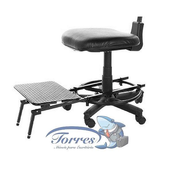 Apoio para pés - cadeira caixa
