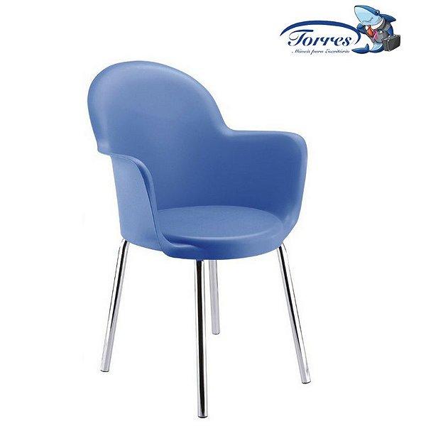 Cadeira Boston Fixa base cromada