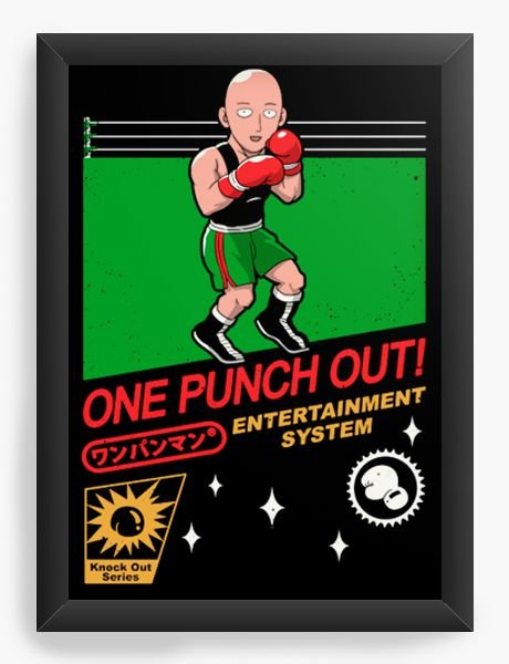 Quadro Decorativo A4 (33X24) Geekz One Punch out! - Loja Nerd e Geek - Presentes Criativos