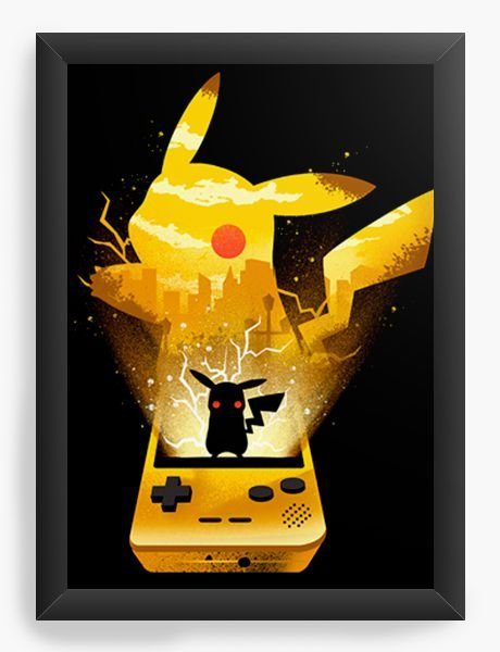 Quadro Decorativo A4 (33X24) Geekz Pokemon Pikachu - Loja Nerd e Geek - Presentes Criativos