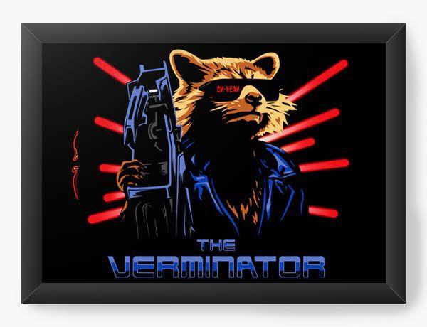 Quadro Decorativo A4 (33X24) Geekz Rocket - Loja Nerd e Geek - Presentes Criativos