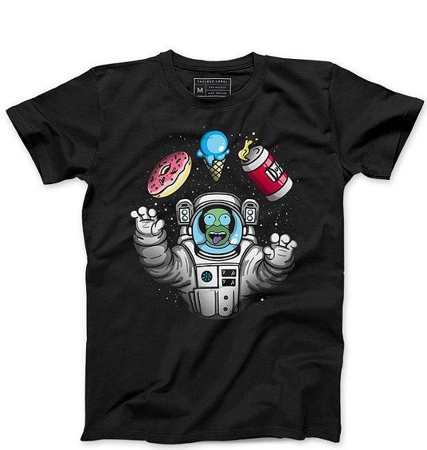 Camiseta Masculina Homer Simpsons Space - Loja Nerd e Geek - Presentes Criativos