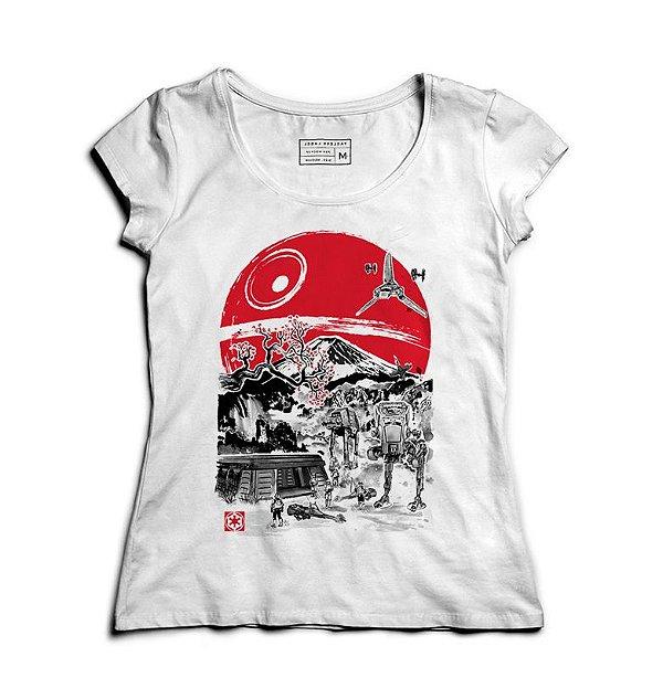 Camiseta Feminina Space Wars Filme - Loja Nerd e Geek - Presentes Criativos