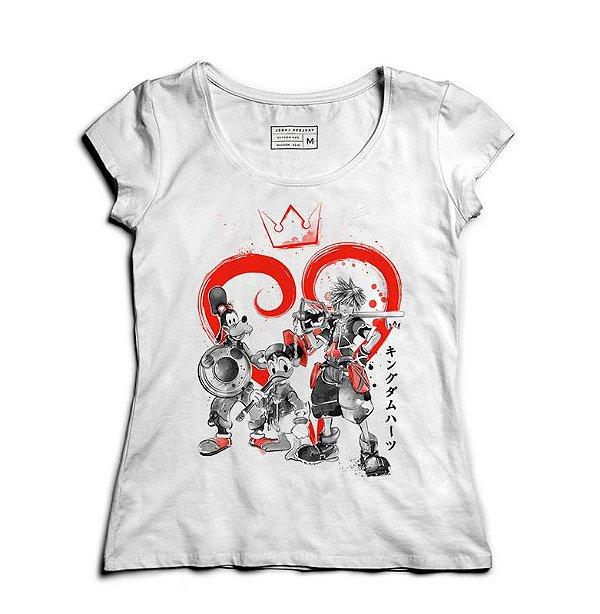 Camiseta Feminina Kingdom Hearts - Loja Nerd e Geek - Presentes Criativos