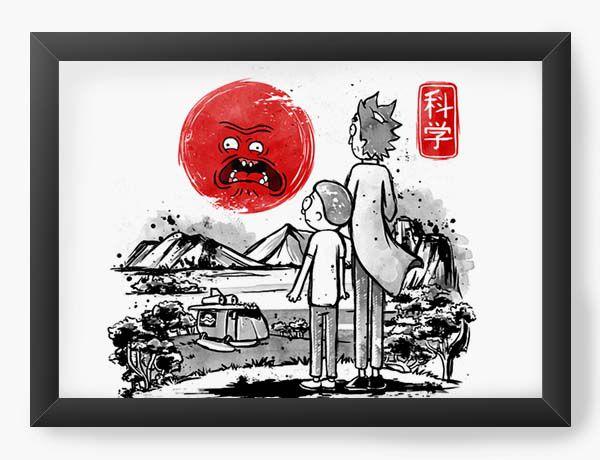 Quadro Decorativo A4 (33X24) Geekz Rick and Morty - Loja Nerd e Geek - Presentes Criativos