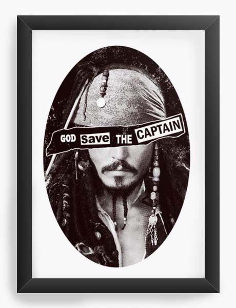 Quadro Decorativo A4 (33X24) Geekz Piratas do Caribe - Loja Nerd e Geek - Presentes Criativos