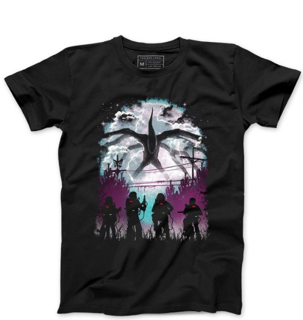 Camiseta Masculina Stranger Things Demogorgon - Loja Nerd e Geek - Presentes Criativos
