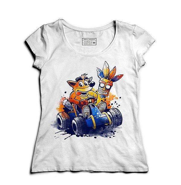 Camiseta Feminina Crash - Loja Nerd e Geek - Presentes Criativos