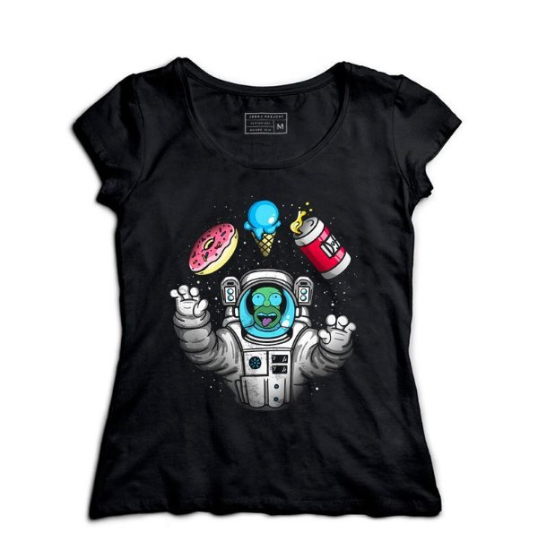Camiseta Feminina Homer Space - Loja Nerd e Geek - Presentes Criativos