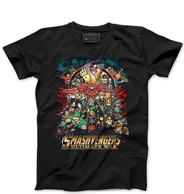 Camiseta Masculina Smashvengers Ultimate - Loja Nerd e Geek - Presentes Criativos