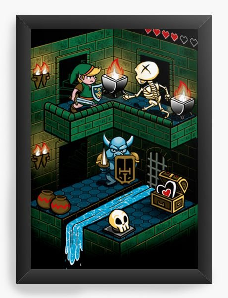 Quadro Decorativo A4 (33X24) Geekz Legend Elf - Loja Nerd e Geek - Presentes Criativos