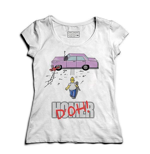 Camiseta Feminina Homer Simpsons - Loja Nerd e Geek - Presentes Criativos