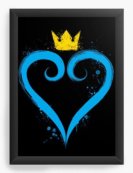 Quadro Decorativo A4 (33X24) Geekz Kingdom Hearts - Loja Nerd e Geek - Presentes Criativos