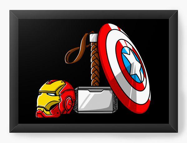 Quadro Decorativo A4 (33X24) Geekz Vingança - Poderes - Loja Nerd e Geek - Presentes Criativos