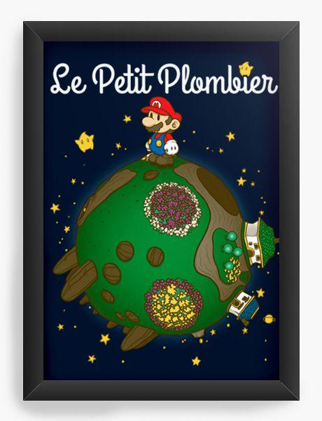 Quadro Decorativo A4 (33X24) Geekz Super Plumber - La Petit - Loja Nerd e Geek - Presentes Criativos