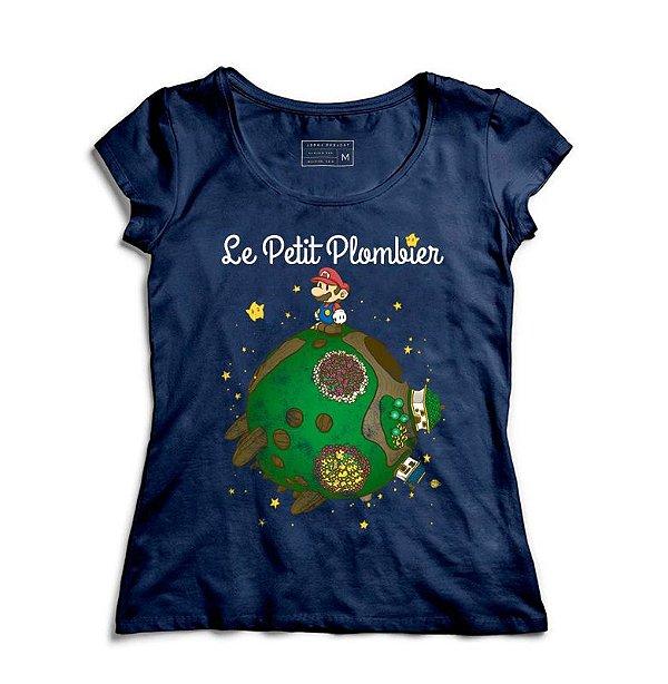Camiseta Feminina Super Plumber - La Petit - Loja Nerd e Geek - Presentes Criativos