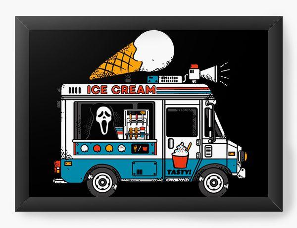 Quadro Decorativo A4 (33X24) Todo Mundo em Panico - Ice Cream - Loja Nerd e Geek - Presentes Criativos