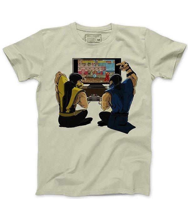 Camiseta Masculina Scorpion Street Fighter - Loja Nerd e Geek - Presentes Criativos