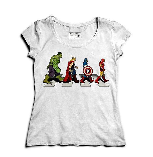 Camiseta Feminina The Avengers - Loja Nerd e Geek - Presentes Criativos