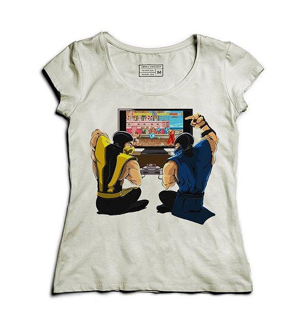 Camiseta Feminina Scorpion Street Fighter - Loja Nerd e Geek - Presentes Criativos