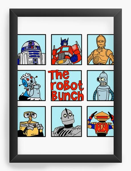 Quadro Decorativo A4 (33X24) The Robot - Loja Nerd e Geek - Presentes Criativos