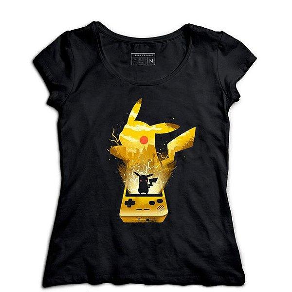 Camiseta Feminina Pokemon Pichachu - Loja Nerd e Geek - Presentes Criativos