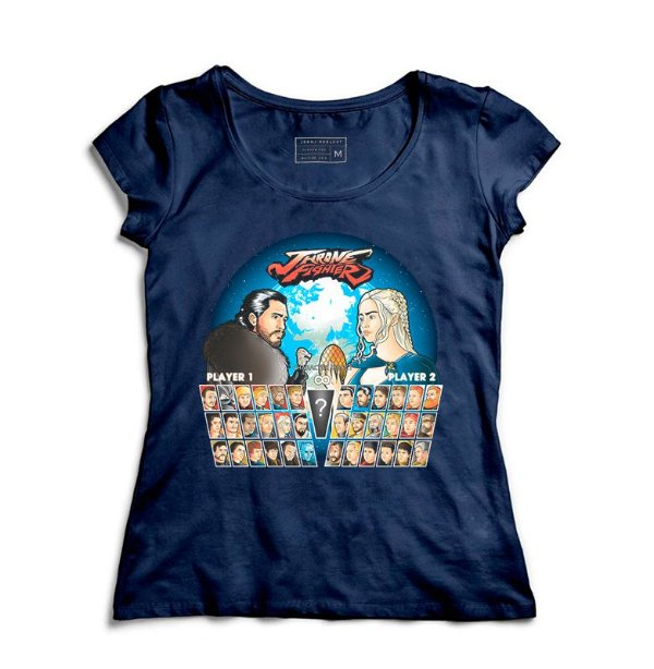 Camiseta Feminina Throne Fighter   - Loja Nerd e Geek - Presentes Criativos