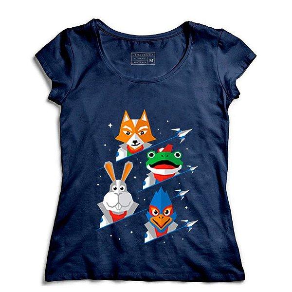 Camiseta Feminina Defensores   - Loja Nerd e Geek - Presentes Criativos