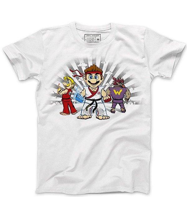 Camiseta Masculina Plumber Kombat  - Loja Nerd e Geek - Presentes Criativos