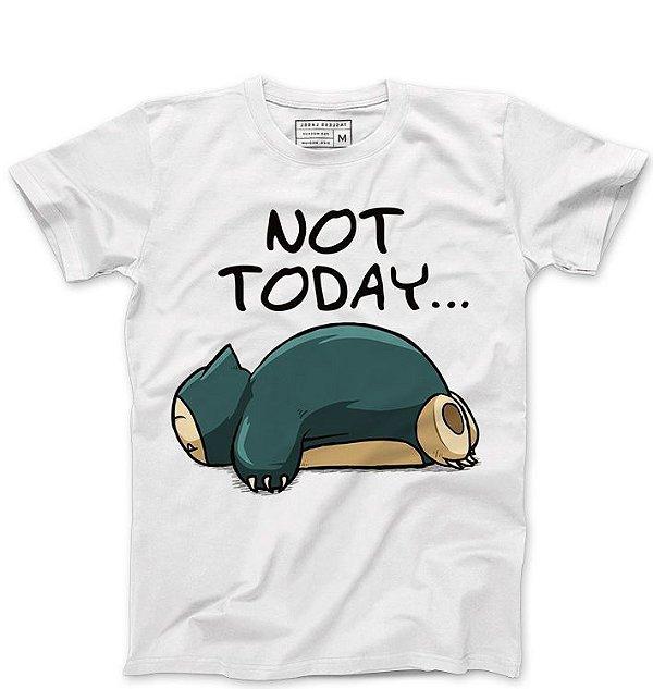Camiseta Masculina Hoje não - Loja Nerd e Geek - Presentes Criativos