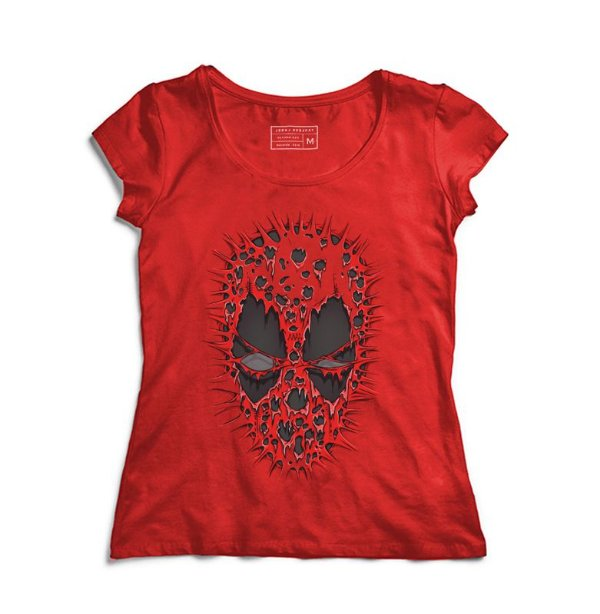 Camiseta Feminina Red ombie - Loja Nerd e Geek - Presentes Criativos