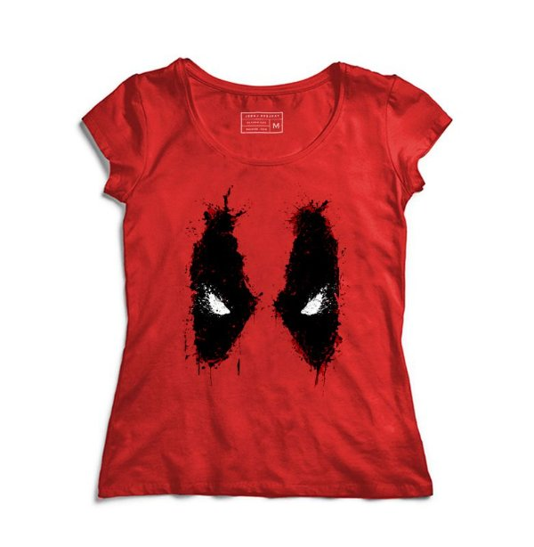 Camiseta Feminina Red Eyes - Loja Nerd e Geek - Presentes Criativos