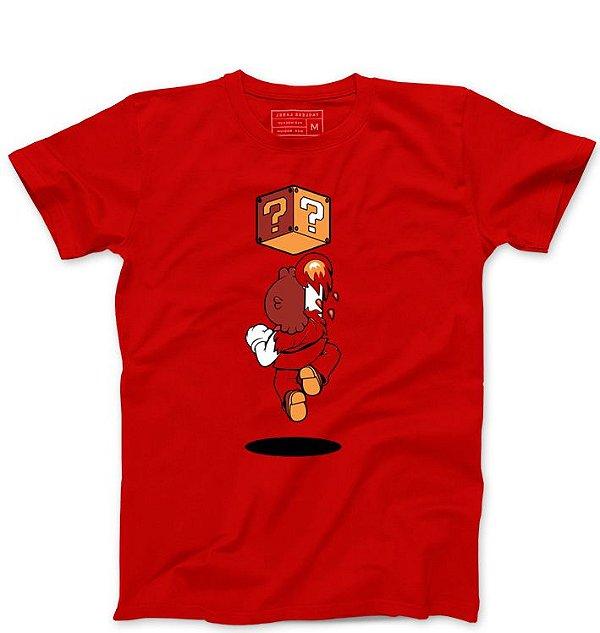 Camiseta Masculina Plumber Fire  - Loja Nerd e Geek - Presentes Criativos