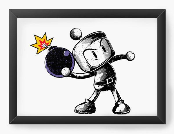 Quadro Decorativo A4 (33X24) Bombardeio  - Loja Nerd e Geek - Presentes Criativos