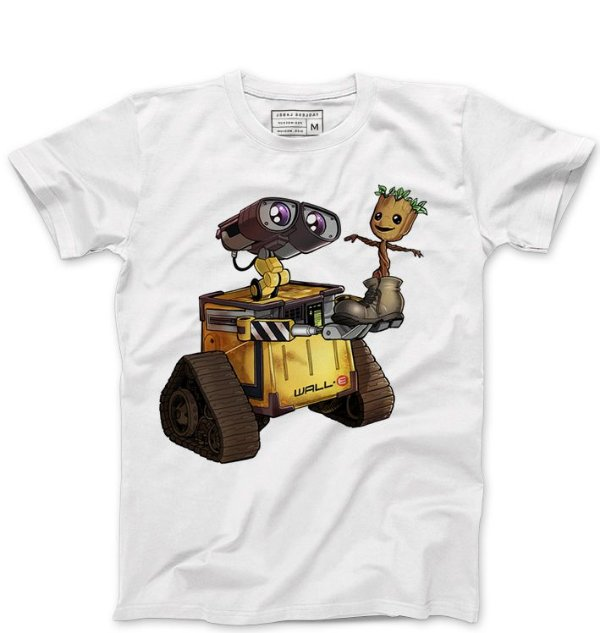 Camiseta Masculina Robo and Tree - Loja Nerd e Geek - Presentes Criativos