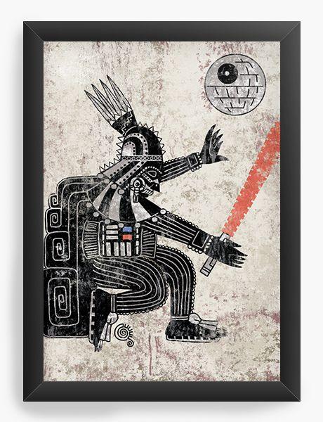 Quadro Decorativo A4 (33X24) Powerful Dark  - Loja Nerd e Geek - Presentes Criativos