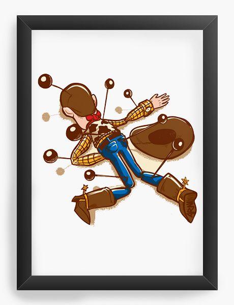 Quadro Decorativo A4 (33X24) Cowboy de Brinquedo  - Loja Nerd e Geek - Presentes Criativos