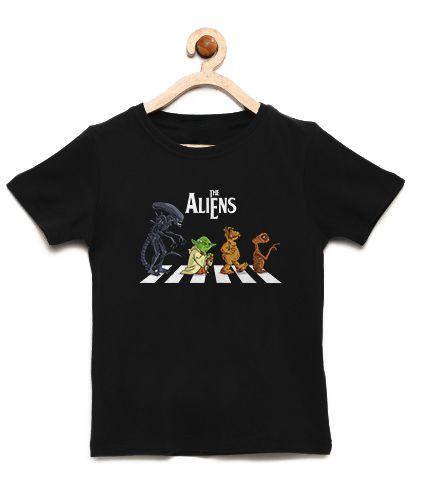 Camiseta Infantil The Aliens - Loja Nerd e Geek - Presentes Criativos