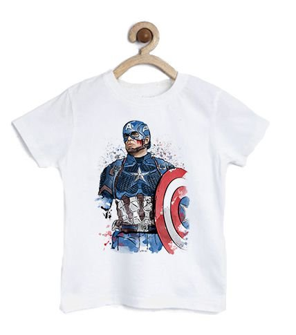 Camiseta Infantil Capitão - Loja Nerd e Geek - Presentes Criativos