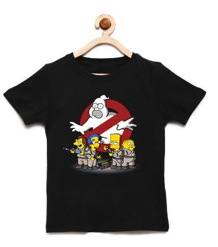 Camiseta Infantil Pegue o Fantasmas  - Loja Nerd e Geek - Presentes Criativos